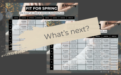 6-Wochen-Runningplan absolviert – und nun?!